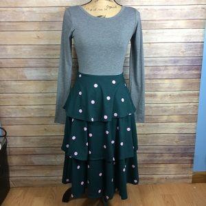 LuLaRoe Georgia Dress Womens Size XS Polka Dots